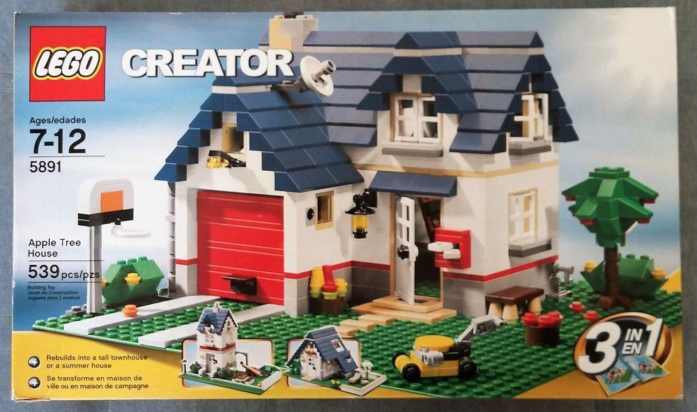 New Lego Creator Set 5891 Apple Tree House Creator 3 In 1 Sealed Nisb