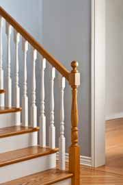 Great Traditional Painting Style For Wooden Stairs