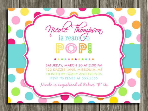 Pop Baby Shower Invitation