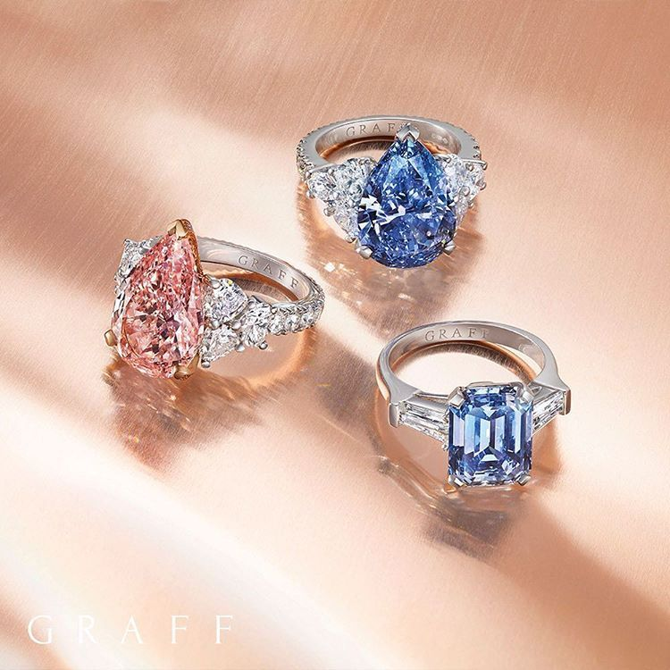Born To Shine Only One In 10 000 Diamonds Discovered Are Coloured And Only A Small Handfu Blue Diamond Engagement Ring Pink Diamond Ring Pink Sapphire Jewelry
