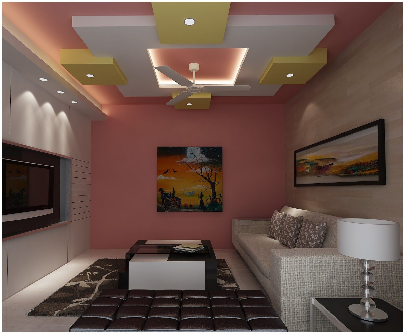 Ceiling designs for your living room ceilings pop false for Room design roof