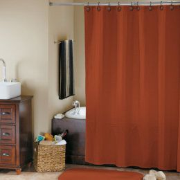 Foxtail Orange Linden Street Waffle Shower Curtain Orange Shower Curtain Orange Bathroom Decor Burnt Orange Bathrooms