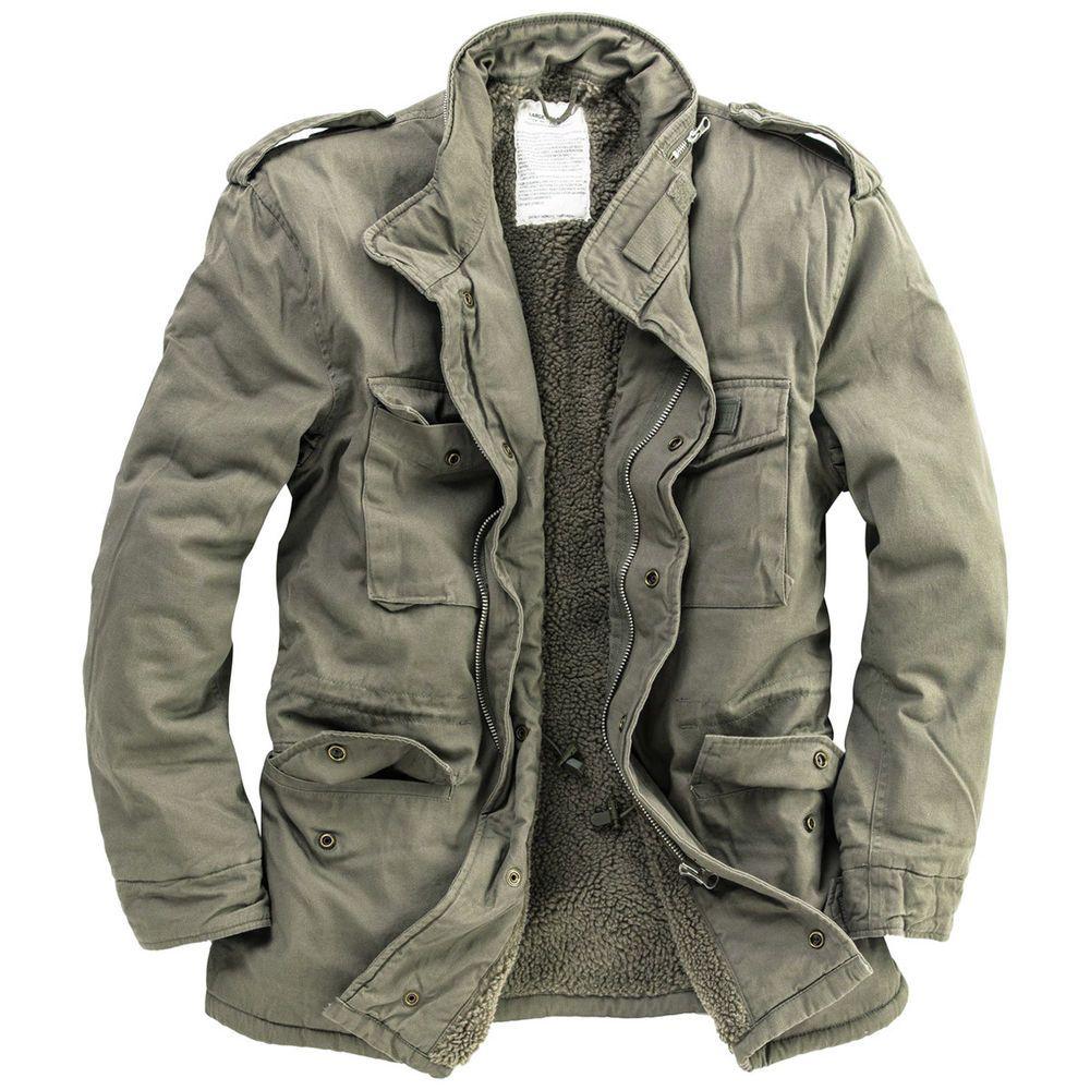 Details about Surplus Paratrooper Winter Mens Jacket M65
