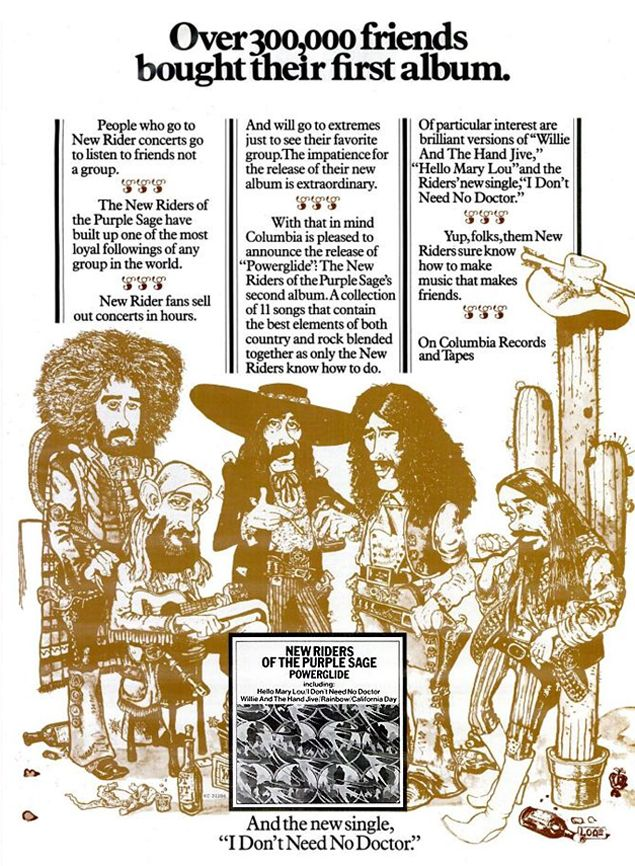 New Riders of Purple Sage - Billboard Magazine Advertise