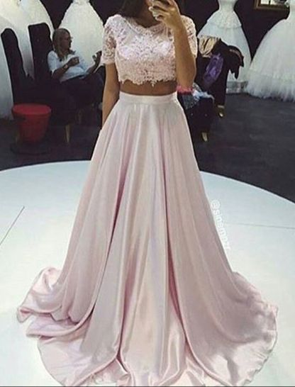 100%+Handmade+Dresses.+Customized+service+and+Rush+order+are+a... 2 Pieces  Prom Dresses 53f9c3563fb4