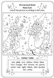 English Worksheet It 180 S Carnival Time Progetti Da