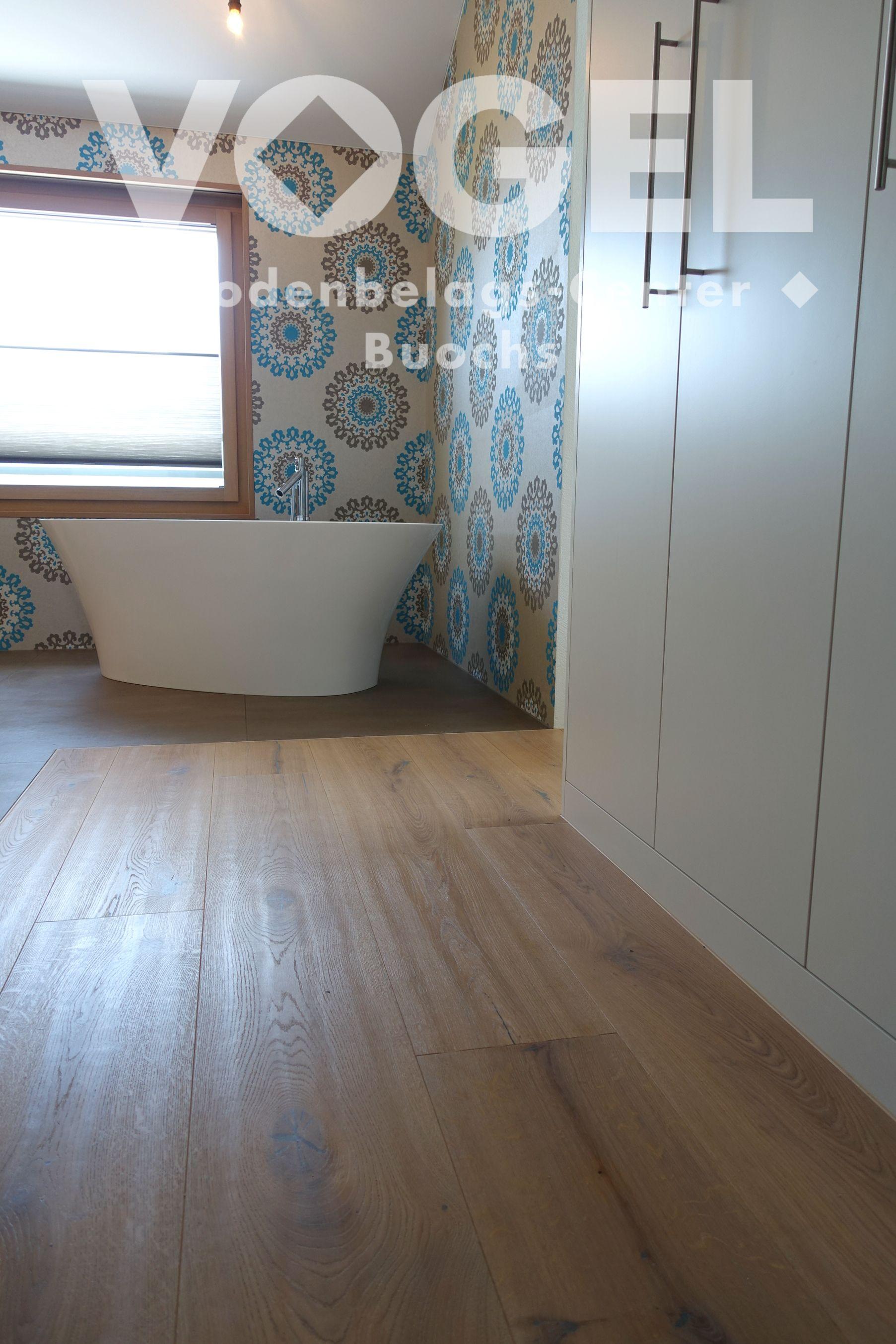 Eiche Weiss Geolt Strukturiert Parkett Boden Bad Badewanne Parkett Landhausdiele Parkett Parkettboden
