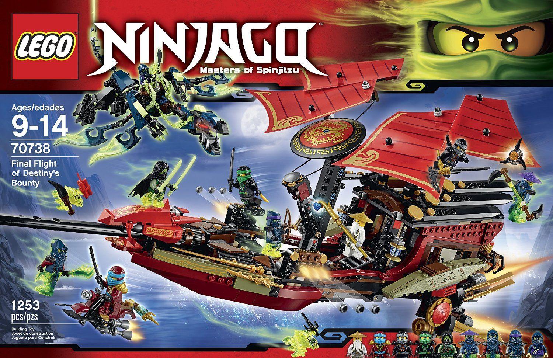 Amazon.com: LEGO Ninjago 70738 Final Flight of Destiny's Bounty Building  Kit: Toys & Games