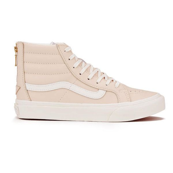 55a50d9931 Leather High Tops · Vans Women s Sk8-Hi Zip Leather Trainers - Whispering  Pink Blanc de.