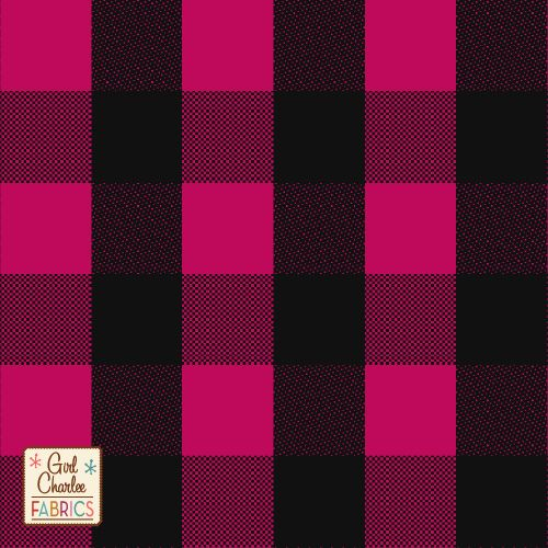 c3c37631c5b Black Fuchsia Buffalo Plaid Cotton Spandex Knit Fabric - A Girl Charlee  Collection favorite! Top