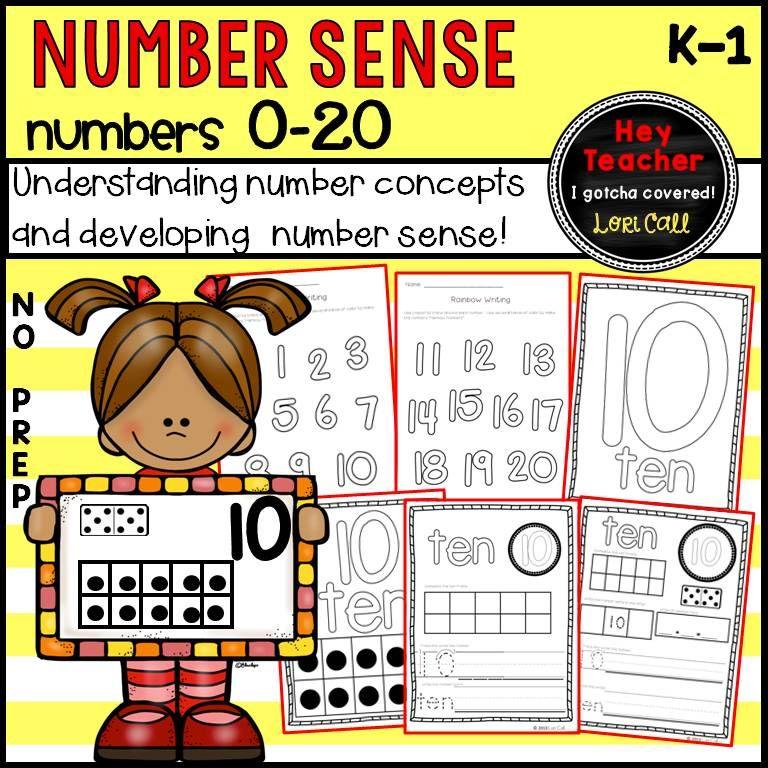 Number Sense-Number Writing Practice 0-20 (Pre K, Kindergarten ...