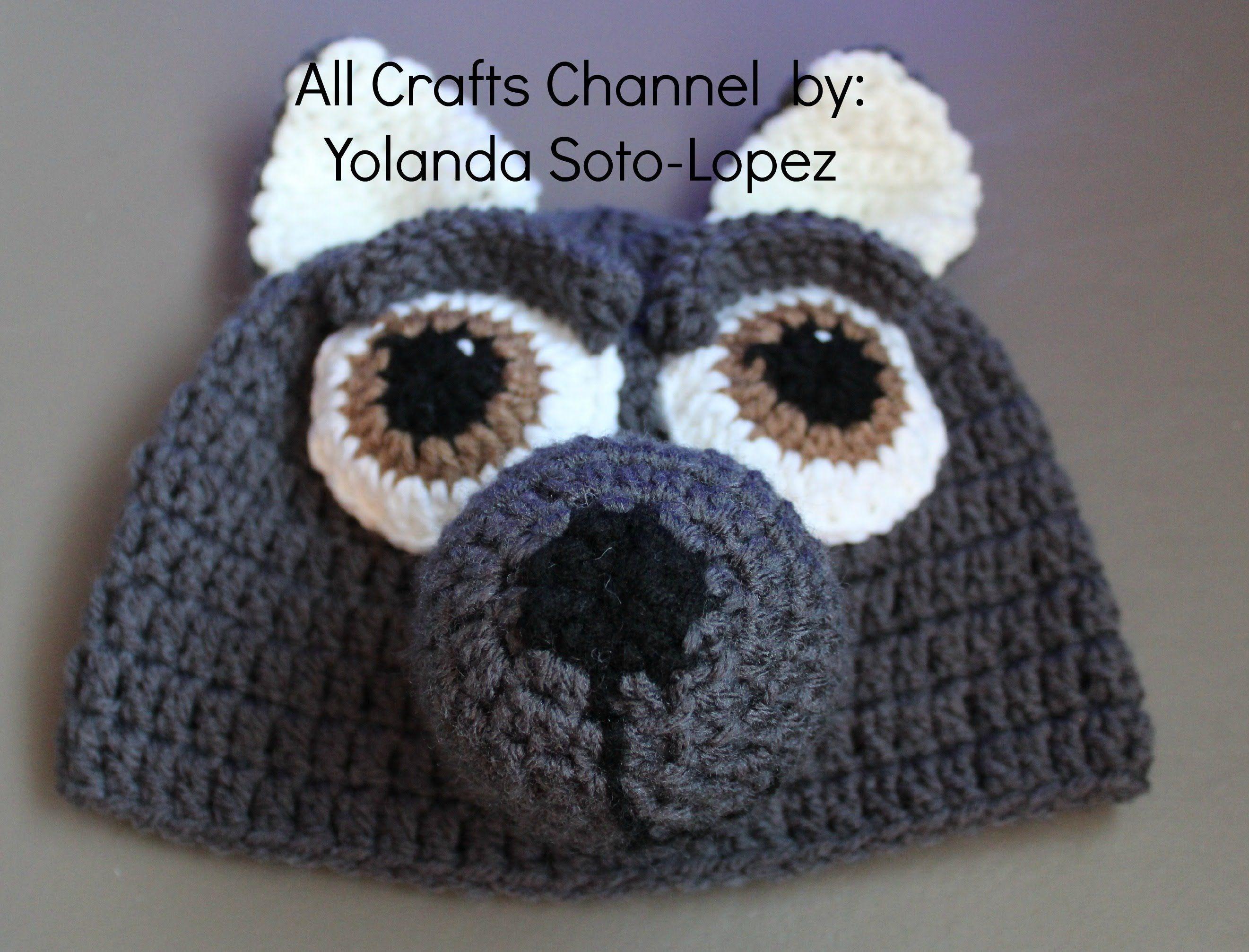Gorro de lobo en #crochet -video dos | gato gorra | Pinterest ...