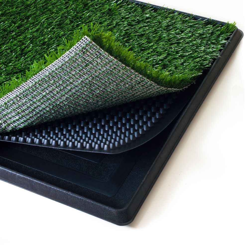 Mat Tray Paw Indoor Puppy Grass Dog Pet Grass Trainer Patch Pee 16X20 Inch  Small #