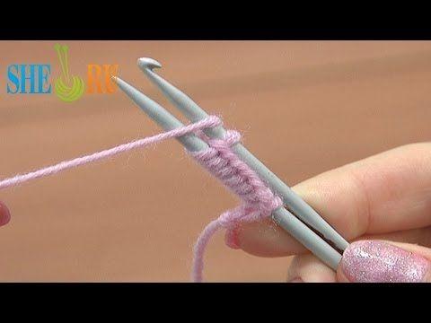 como colocar pontos com agulha de croche
