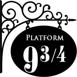 Harry Potter Platform 9 3/4 Wall Decal Door Art. $15.00, via Etsy.