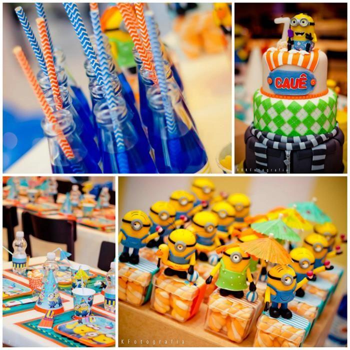 Superb Despicable Me Party Ideas Part - 3: Despicable Me 2 Party Planning Ideas Supplies Idea Cake Decorations