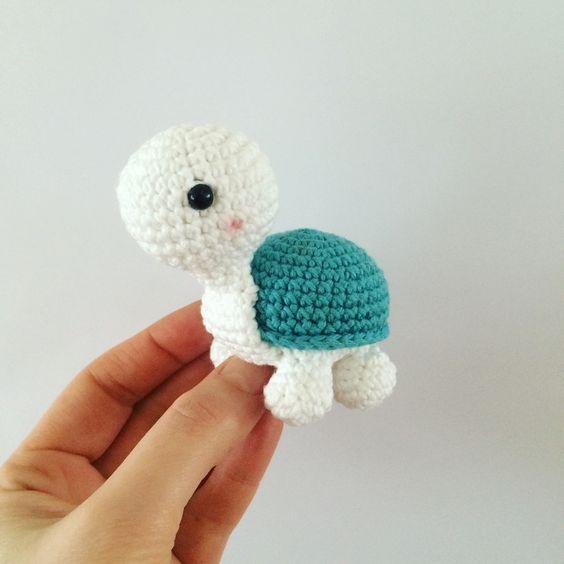 gratis hækleopskrift | LittleHappyCrochet #crochetturtles