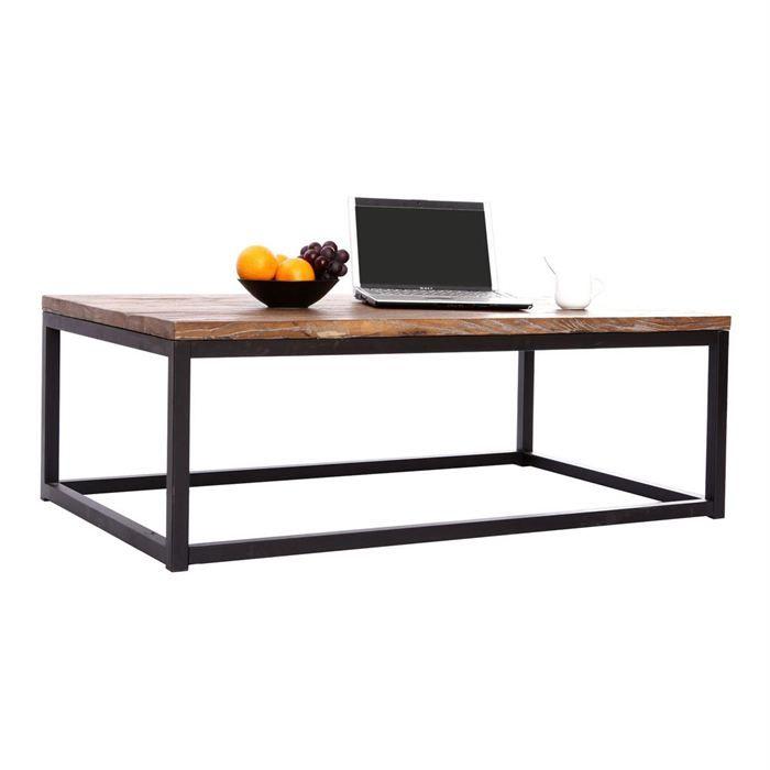 la meilleure attitude 06974 78706 beau table basse bois et metal pas cher   Table en 2019 ...