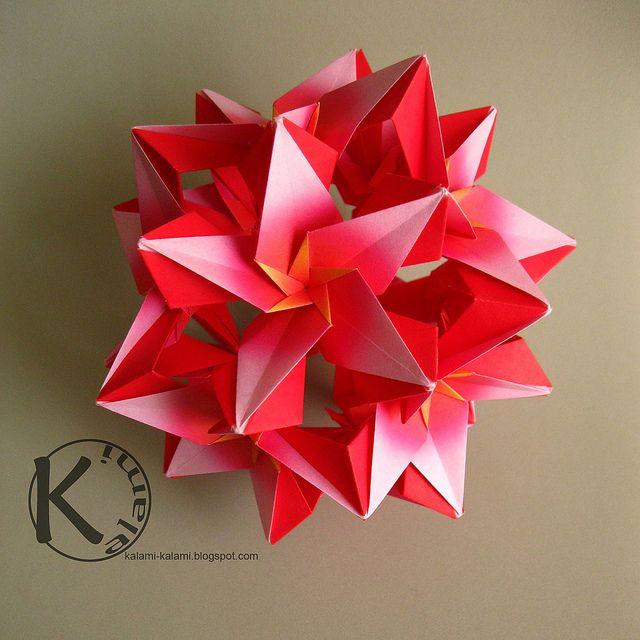 carmen 39 s star globe by kalami via flickr papercraft art pinterest sterne basteln origami. Black Bedroom Furniture Sets. Home Design Ideas