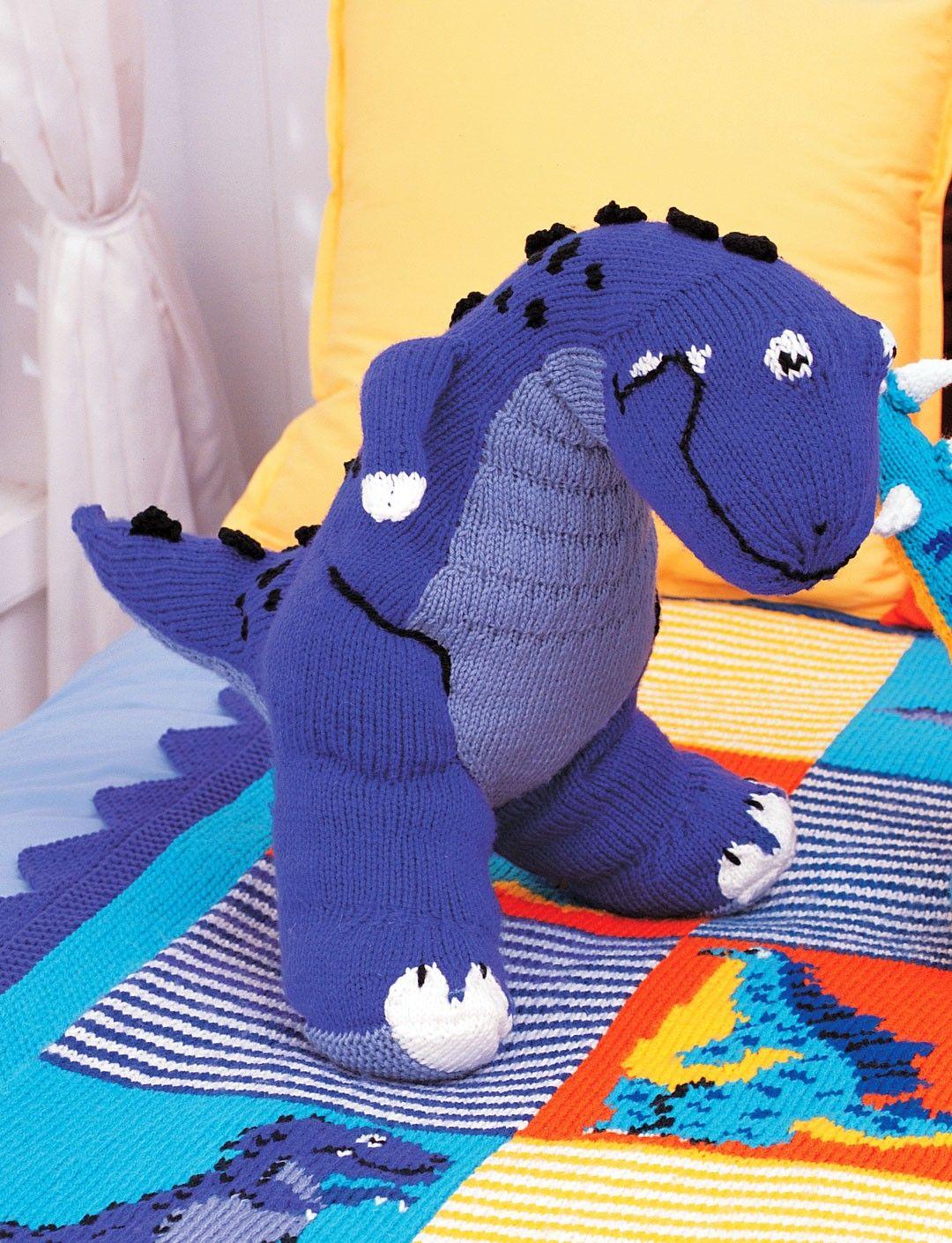 Free knitting pattern for Tyrannosaurus dinosaur toy | Animal ...