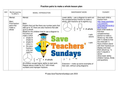 fractions that total  ks worksheets lesson plans and powerpoint  fractions that total  ks worksheets lesson plans and powerpoint