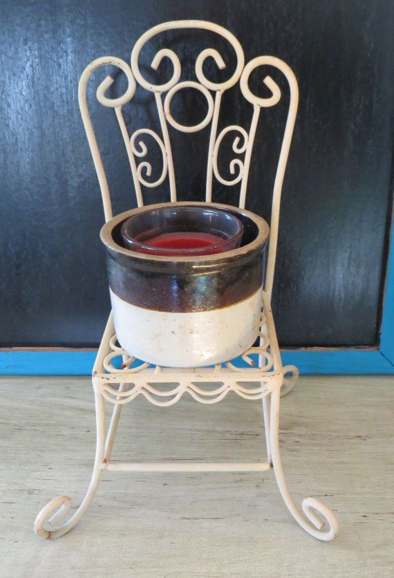 Vintage Metal Chair Small Chair Planter By OZdOinGItagaiN On Etsy, $8.00