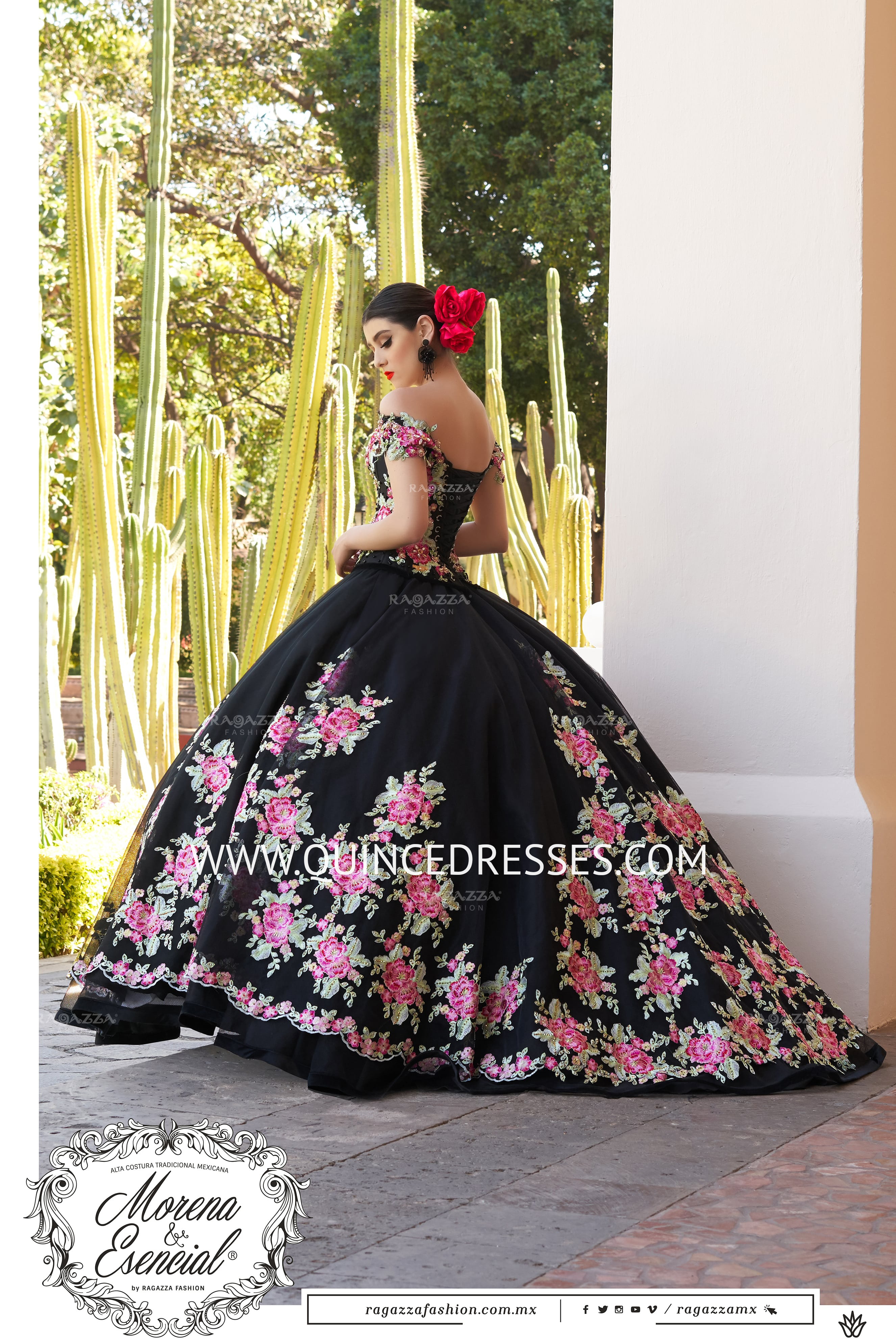 Floral Off Shoulder Quinceanera Dress By Ragazza Fashion M20 120 In 2021 Mexican Quinceanera Dresses Charro Quinceanera Dresses Pretty Quinceanera Dresses [ 3976 x 2652 Pixel ]