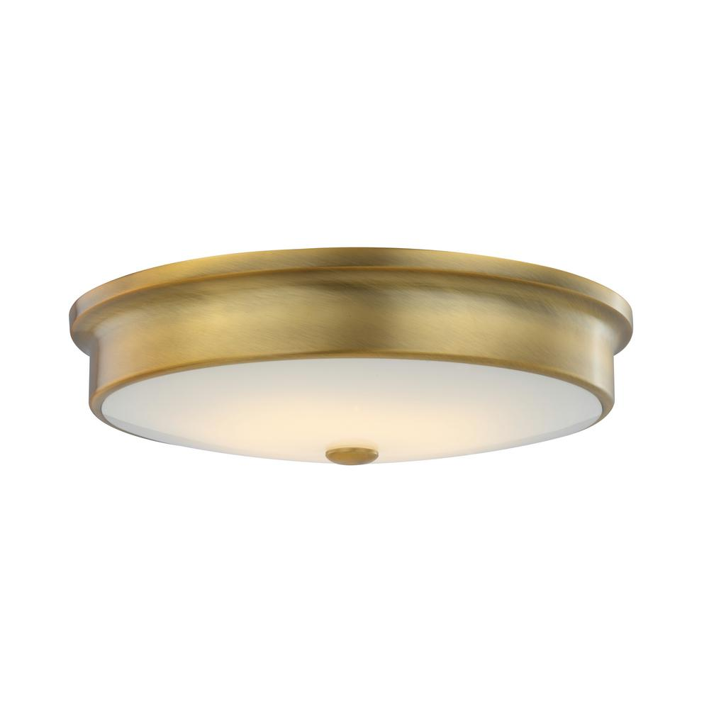 Home decorators collection in aged brass watt integrated led