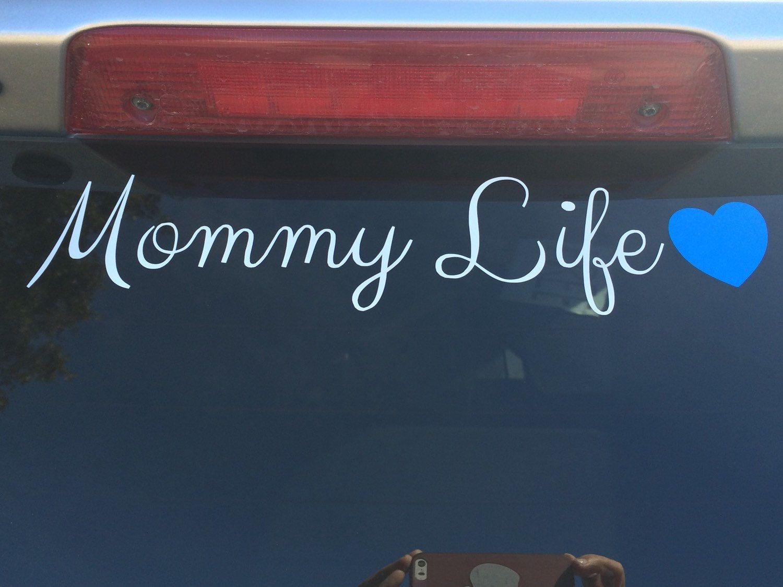 Mommy Life Die Cut Vinyl Decal by DaizysDezigns on Etsy