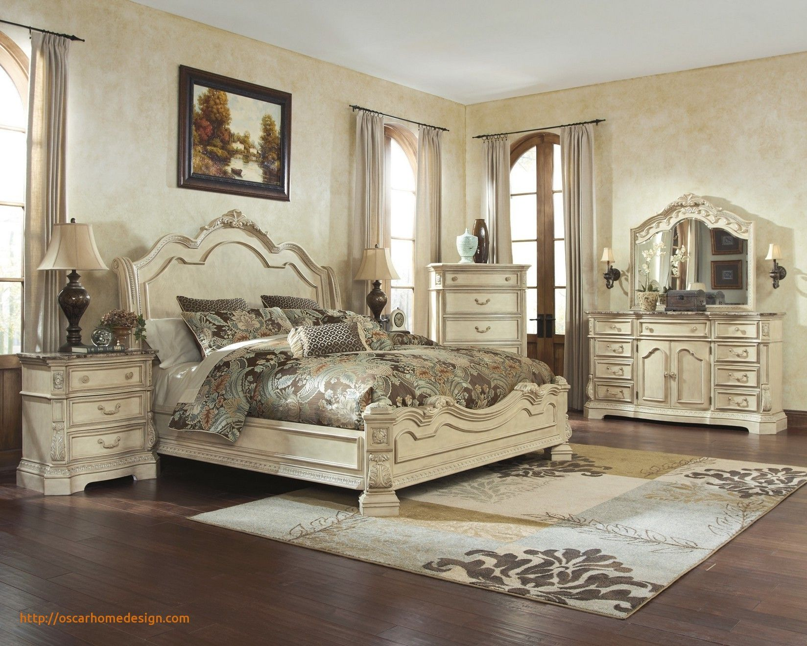 Beautiful Rustic Bedroom Ideas Distressed white bedroom