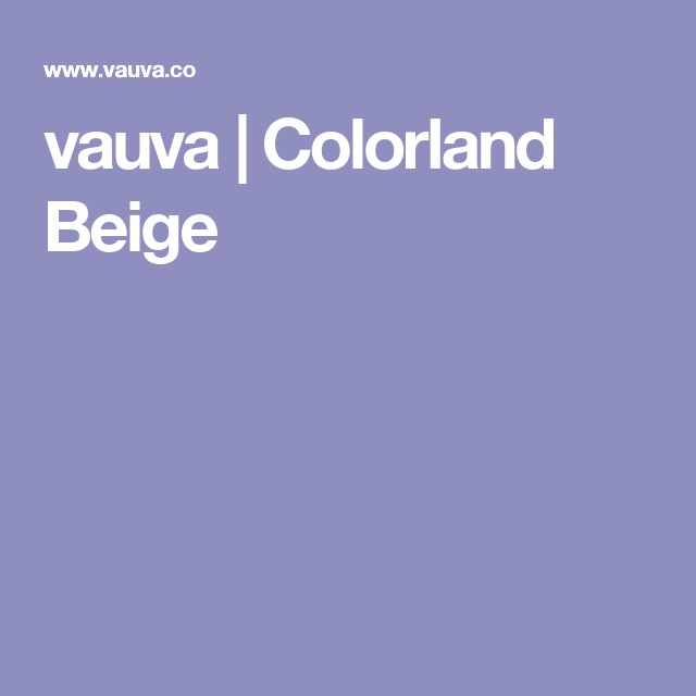 vauva | Colorland Beige
