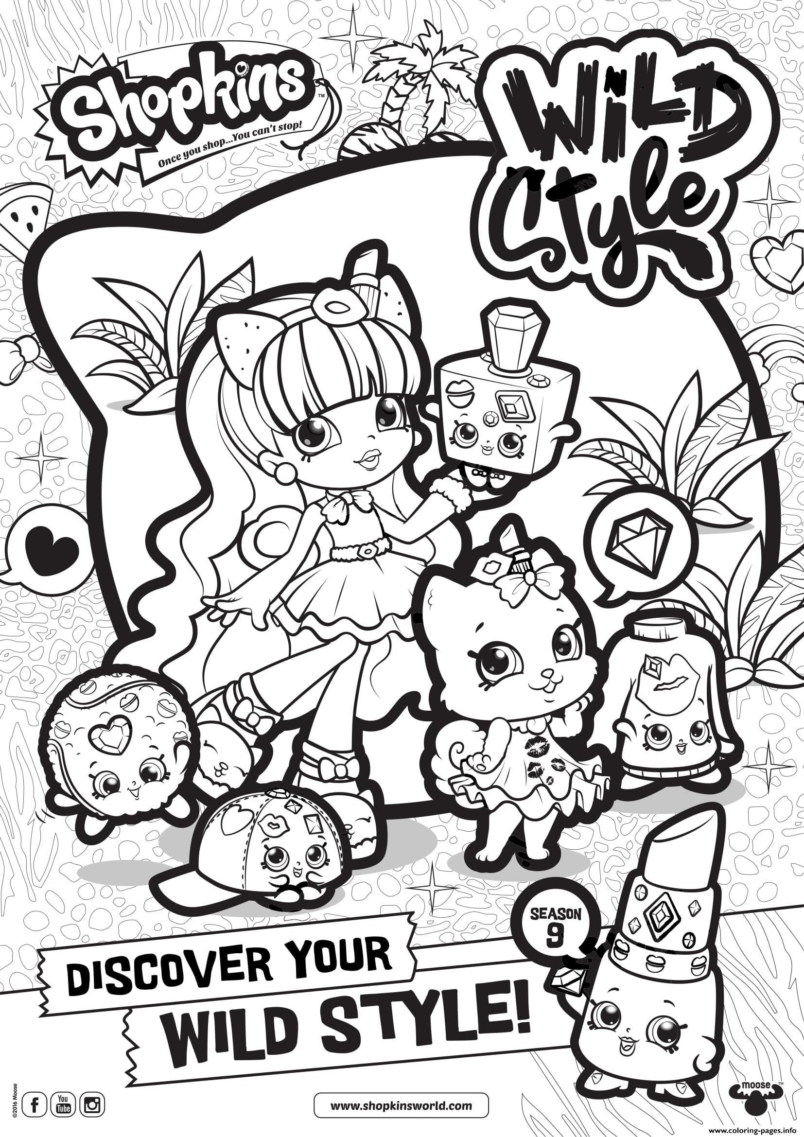 Print shopkins season 9 wild style 7 coloring pages