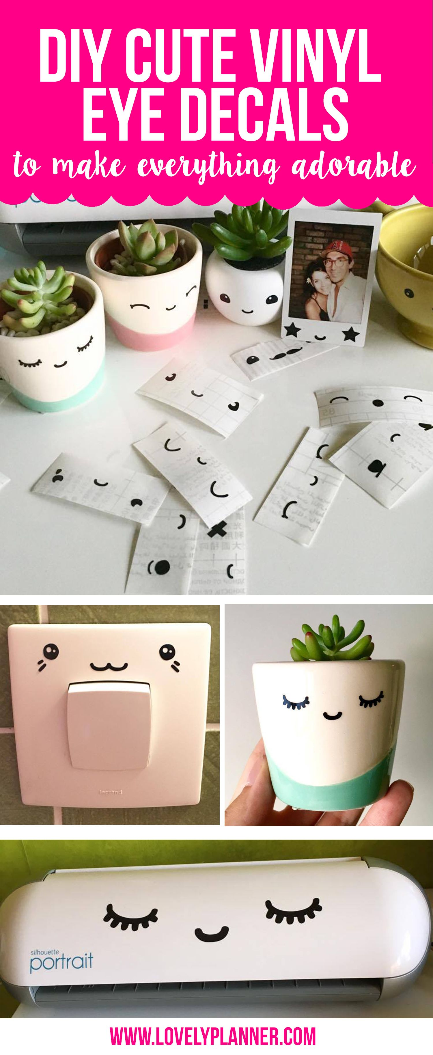 DIY Cute Vinyl Eye Decals To Make Everything Adorable Eye And Cricut - How to make vinyl stickers with cricut