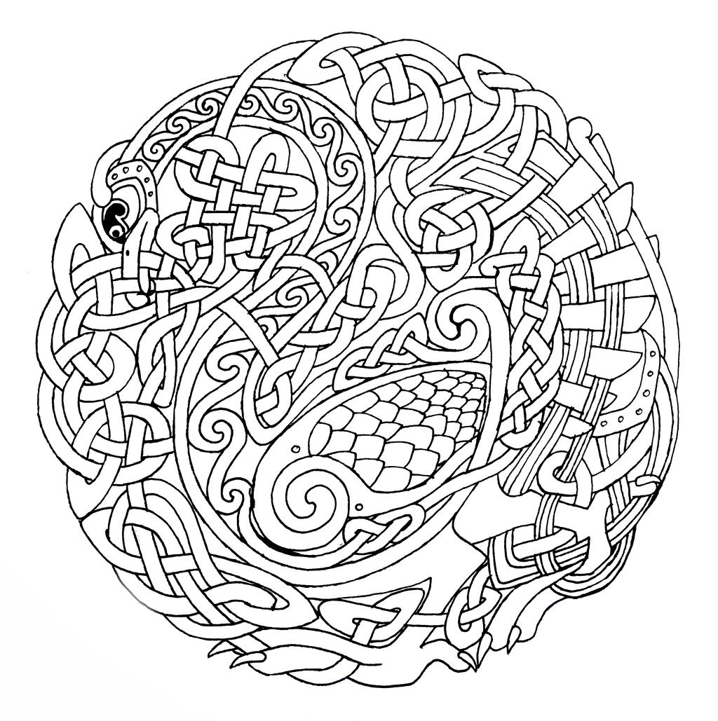 Http Fc03 Deviantart Net Fs70 I 2013 292 1 6 Celtic Bird By Feivelyn D6r1lim Png Celtic Coloring Book Celtic Coloring Mandala Coloring Books