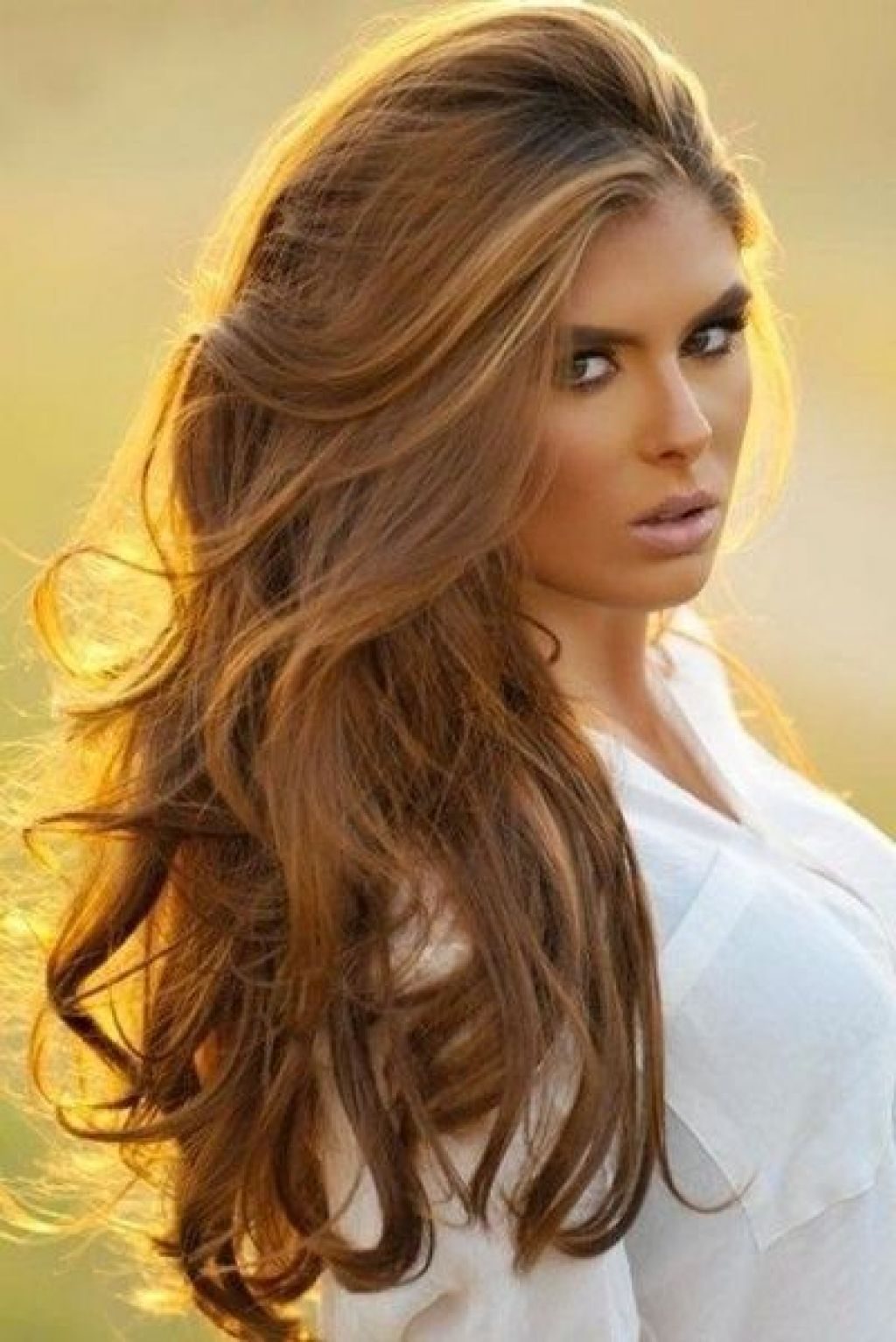Highlights With Green Eyes And Warm Skin Tones