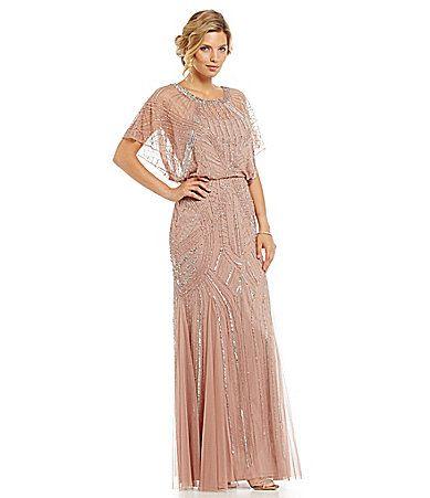 Aidan Mattox Beaded Blouson Gown #Dillards   Wedding   Pinterest