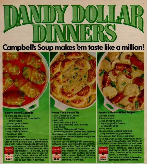 Campbell S Soup Recipes Stuffed Cabbage Tuna Biscuit Pie