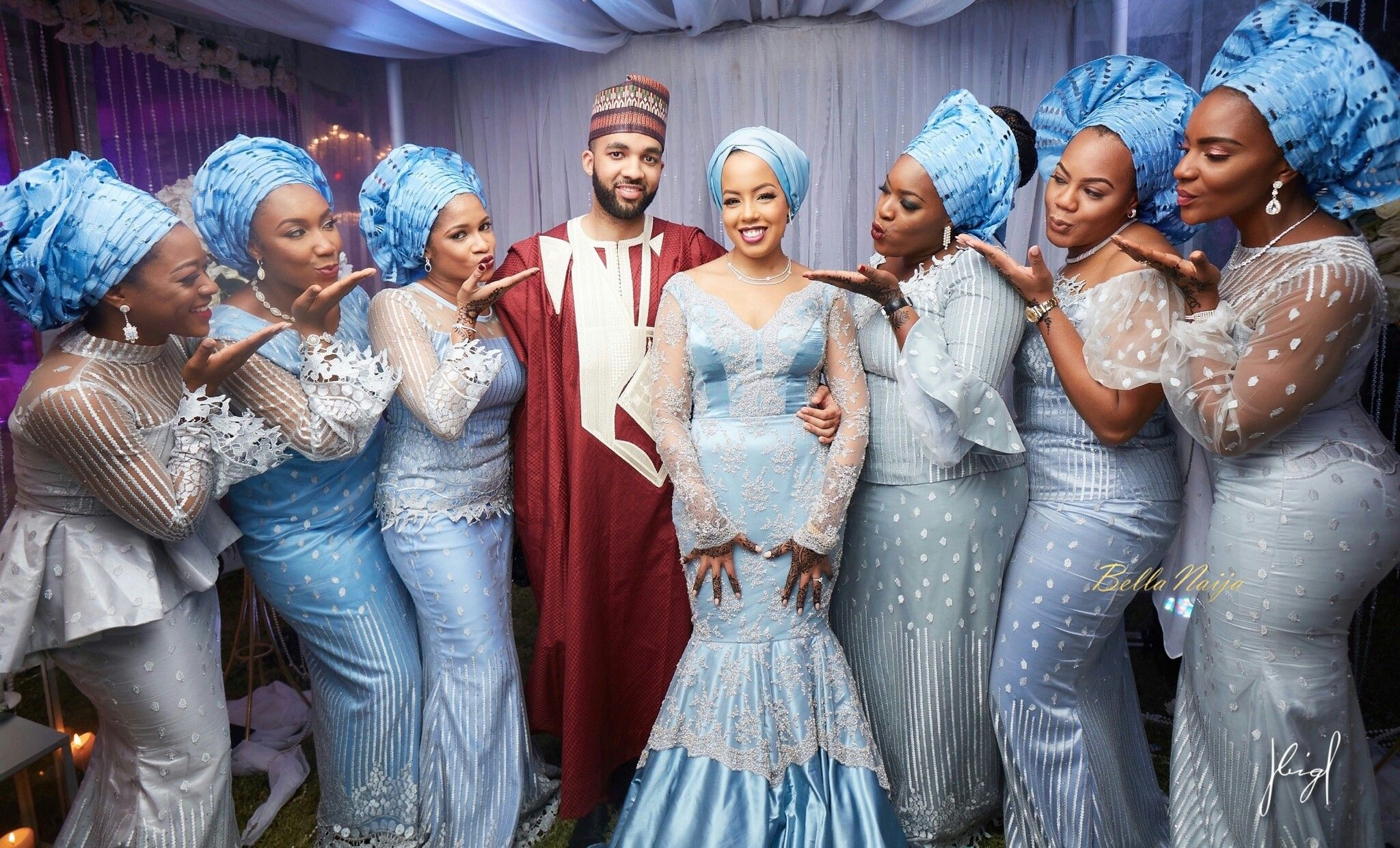 Northern Nigerian Traditional Wedding Attire African Traditional Wedding Traditional Wedding Attire Global Wedding