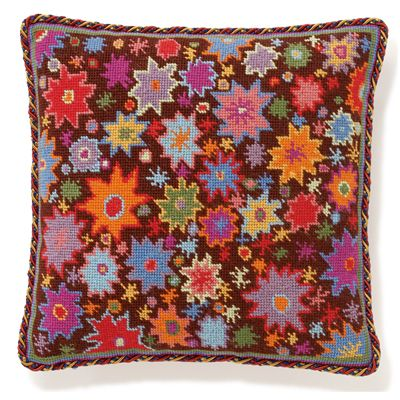 Starburst Print: A fun and lively starburst print in needlepoint. Here's a new project for you Pen!