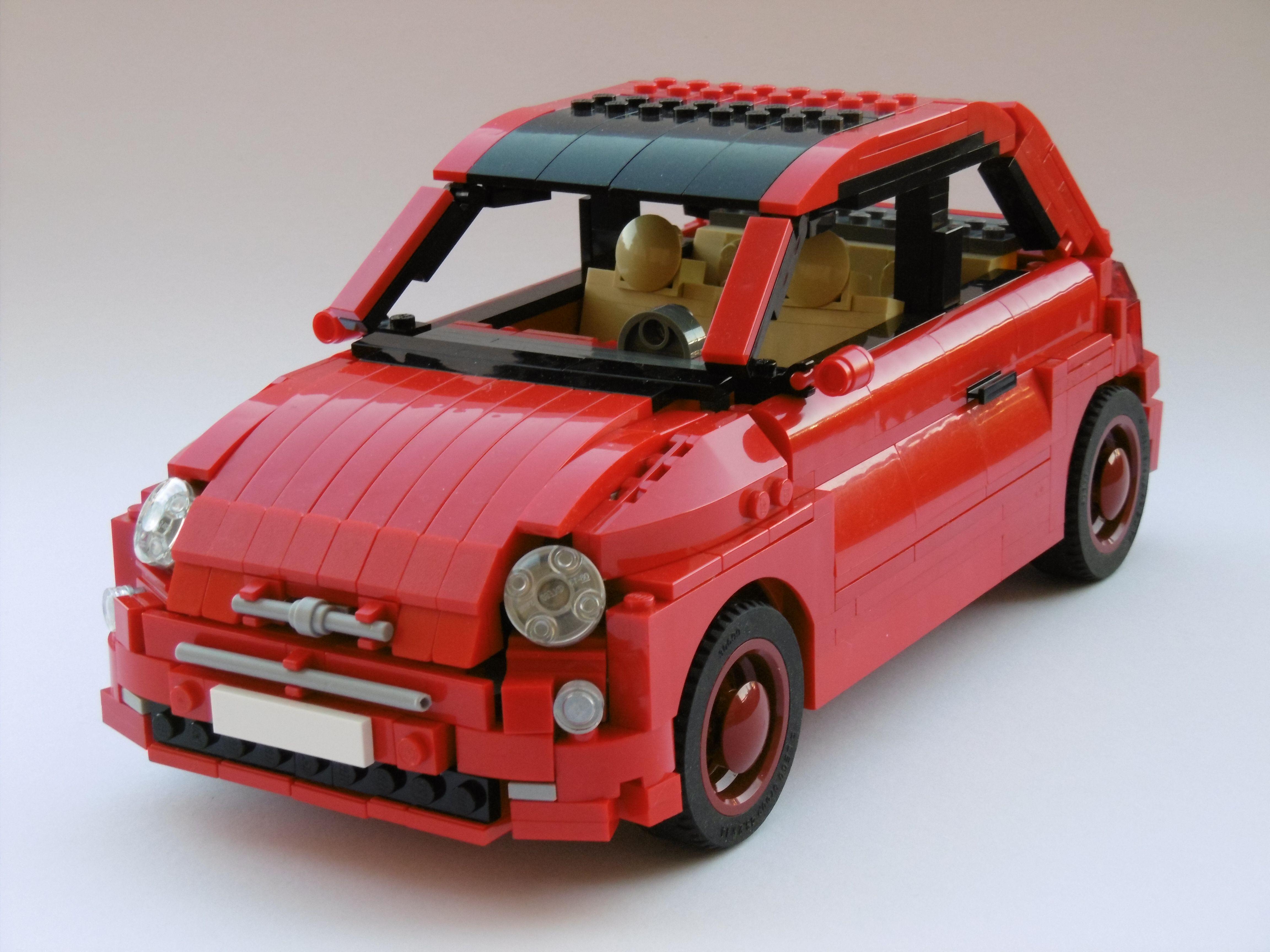 Lego Fiat 500 Lego Cars Lego Lego Pictures