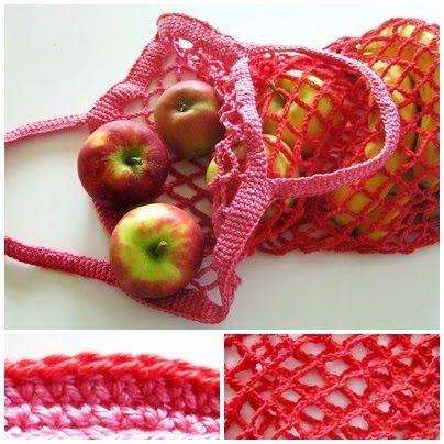 Sew A Gift Tag 292 Einkaufsnetz Für Obst Und Gemüse Häkeln
