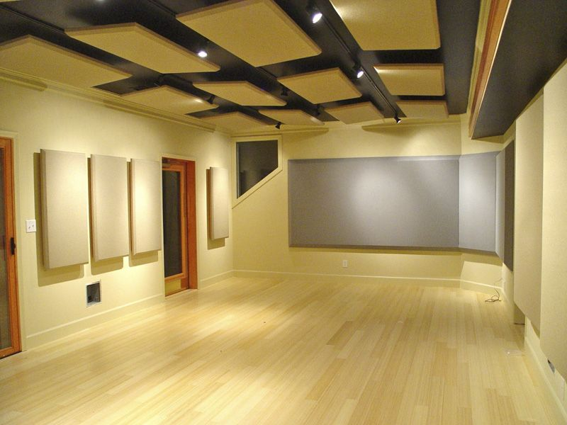 i like the look of the panels on the wall and ceiling studio