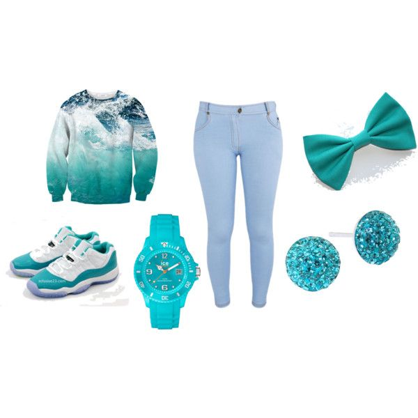 ocean blue, created by jkh503 on Polyvore