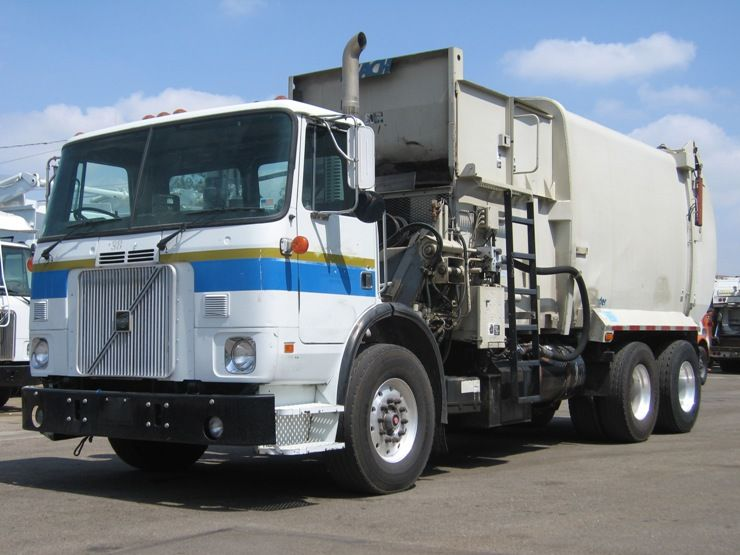 2000 Volvo Wxr64 Automated Side Loader Volvo Ve 275hp Engine Allison Md3560 Auto Leach Curbtender 27yd Body Low Mil Garbage Truck Commercial Vehicle Trucks