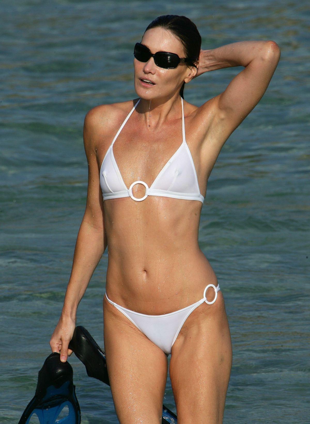 See Thru White Bikini