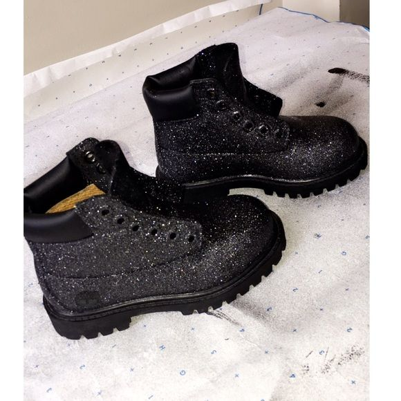 Custom glitter timberlands Custom timberland boots available in any color  any size just comment or email