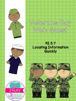 This quick web quest is perfect for Veterans Day. You can also use it to introduce students to RI.5.7, where students must locate an answer quickly.