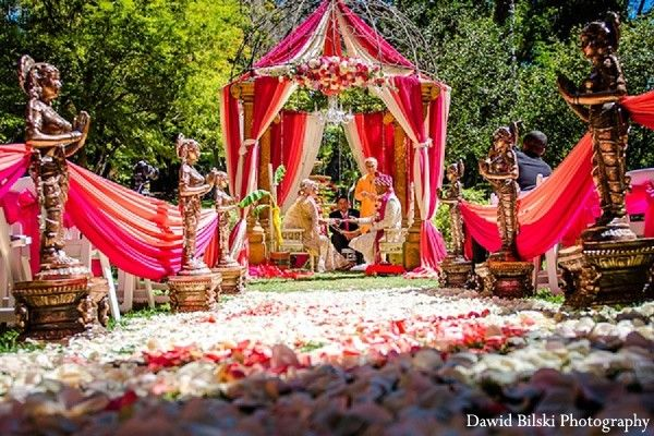 Ceremony chuppah indian wedding decor wedding design wedding ceremony in fremont ca indian wedding by dawid bilski photography junglespirit
