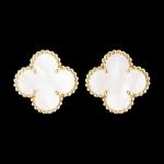 Vintage Alhambra earclips, Gold-VCARA44100-Van Cleef & Arpels
