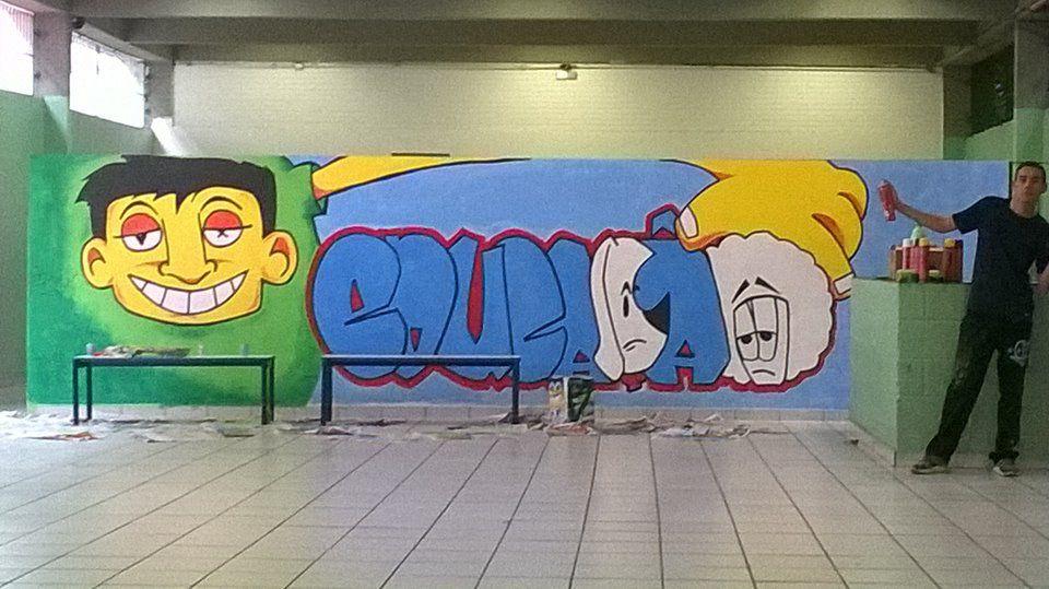 Graffiti na escola